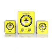Колонки 2.1 SmartBuy BUZZ с MP3 плеером, черно-желтые (SBA-2610)