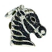 8Gb QUMO Charm Series Horse Black, Swarovski Elements (QM8GUD-Charm-HRS-Black)