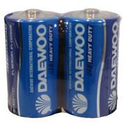 Батарейка D DAEWOO Heavy Duty R20, 2шт, солевая, термопленка
