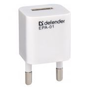 Зарядное устройство Defender EPA-01 220V->5V 1A USB (83523)