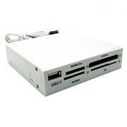 Карт-ридер внутренний 3.5 Gembird White USB2.0 (FDI2-ALLIN1)