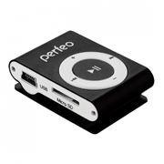 MP3 плеер Perfeo Music Clip Titanium, черный (VI-M001 Black)