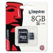 Карта памяти Micro SDHC 8Gb Kingston Class 4 + адаптер SD (SDC4/8GB)