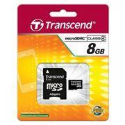 Карта памяти Micro SDHC 8Gb Transcend Class 4 + адаптер SD (TS8GUSDHC4)