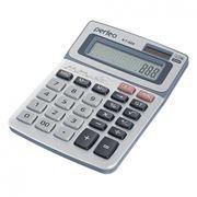 Калькулятор настольный Perfeo KT-888, 12-разрядный, серебристый