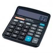 Калькулятор настольный Perfeo PF_3286, 12-разрядный, бухгалтерский, черный (SDC-837B)
