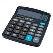 Калькулятор настольный Perfeo PF_3288, 12-разрядный, бухгалтерский, черный (SDC-838B)