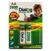 Аккумулятор AA Dialog HR6-2BL 2000мА/ч Ni-Mh, 2шт, блистер
