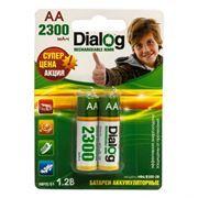 Аккумулятор AA Dialog HR6-2BL 2300мА/ч Ni-Mh, 2шт, блистер
