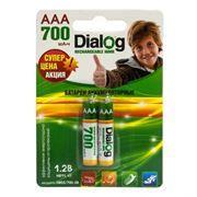 Аккумулятор AAA Dialog HR03/700-2B 700мА/ч Ni-Mh, 2шт, блистер