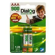 Аккумулятор AAA Dialog HR03/900-2B 900мА/ч Ni-Mh, 2шт, блистер