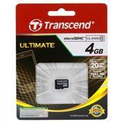 Карта памяти Micro SDHC 4Gb Transcend Class 10 без адаптера (TS4GUSDC10)