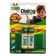 Аккумулятор AA Dialog HR6-2BL 1300мА/ч Ni-Mh, 2шт, блистер