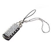 8Gb QUMO Charm Series Ice Crystal, Swarovski Elements, прозрачные кристаллы (QM8GUD-Charm-Ice)