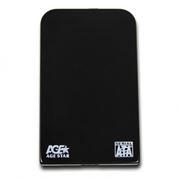 Внешний контейнер для 2.5 HDD S-ATA AgeStar SUB2O1, алюминиевый, черный, USB 2.0