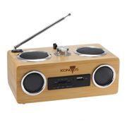 Мини аудио система Konoos KBS-01, MP3-плеер и FM-радио, пульт ДУ, корпус из бамбука