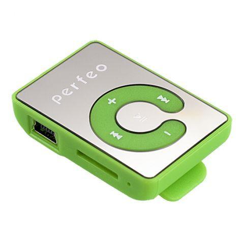 MP3 плеер Perfeo Music Clip Color, зелёный (VI-M003 Green)