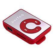 MP3 плеер Perfeo Music Clip Color, красный (VI-M003 Red)