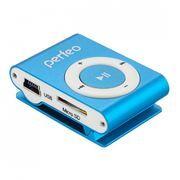 MP3 плеер Perfeo Music Clip Titanium, голубой (VI-M001 Blue)