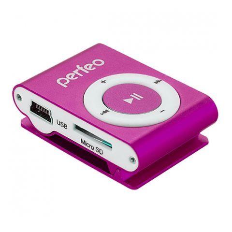 MP3 плеер Perfeo Music Clip Titanium, розовый (VI-M001 Pink)