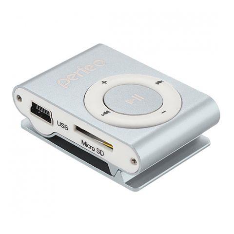 MP3 плеер Perfeo Music Clip Titanium, серебряный (VI-M001 Silver)
