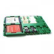 Футляр-кредитка SD SIM Holder для карт памяти, 9 карманов, пластик, зеленый