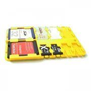 Футляр-кредитка SD SIM Holder для карт памяти, 9 карманов, пластик, желтый