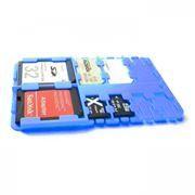 Футляр-кредитка SD SIM Holder для карт памяти, 9 карманов, пластик, синий