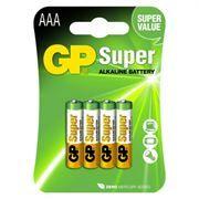 Батарейка AAA GP Super Alkaline LR03, 4 шт, блистер (24A-CR4)