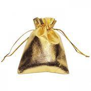 Подарочный мешочек для USB флеш накопителей, 8x10 см, золотистый, полиэстер