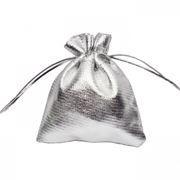 Подарочный мешочек для USB флеш накопителей, 8x10 см, серебристый, полиэстер