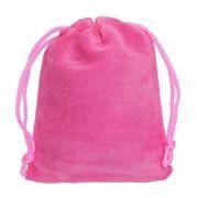 Подарочный мешочек для USB флеш накопителей, 8x10 см, розовый, бархат