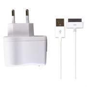 Зарядное устройство SmartBuy NOVA, 2.1A, 30-pin, iPhone4/iPad , белое (SBP-1140)
