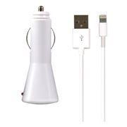Зарядное автомобильное устройство SmartBuy NOVA, 2.1A, Lightning, iPhone5/New iPad, белое (SBP-1110