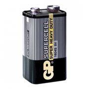 Батарейка 9V GP 6F22 Supercell, солевая, в термопленке (1604S-OS1)