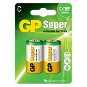 Батарейка C GP Super Alkaline LR14, 2 шт, блистер (14A-CR2)
