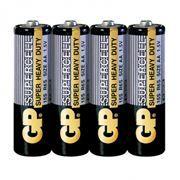 Батарейка AA GP Supercell R6/4SH, солевая, 4 шт, в термопленке (15S-0S4)