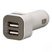Зарядное автомобильное устройство SmartBuy AMPER, 3.1A 2xUSB, белое (SBP-1700)