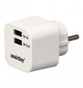 Зарядное устройство SmartBuy VOLT, 3.1A 2xUSB, белое (SBP-2100)