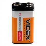 Батарейка 9V VIDEX 6F22 солевая, термопленка