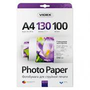 Бумага A4 VIDEX глянцевая 130 г/м, 100 листов (HGA4-130/100)