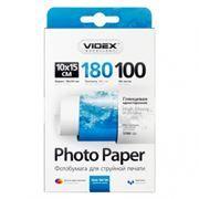 Бумага A6 VIDEX глянцевая 180 г/м, 10x15 см, 100 листов (HGA6-180/100)