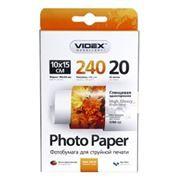 Бумага A6 VIDEX глянцевая 240 г/м, 10x15 см, 20 листов (HGA6-240/20)