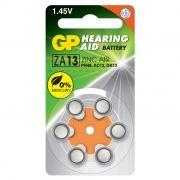 Батарейка GP ZA13 для слуховых аппаратов, 6 шт, блистер