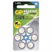 Батарейка GP ZA675 для слуховых аппаратов, 6 шт, блистер