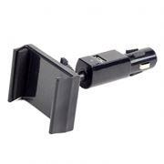 Держатель автомобильный в прикуриватель + USB 2.1А, Gembird TA-CH-003