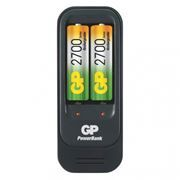 Зарядное устройство GP PowerBank 560 + 2 аккумулятора AA 2700 мАч (GPPB560GS270-2CR2)