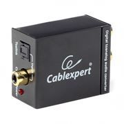 Цифро-аналоговый конвертор аудио-сигнала Toslink - RCA, Cablexpert (DSC-OPT-RCA-001)