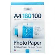 Бумага A4 VIDEX матовая 180 г/м, 100 листов (MKA4-180/100)