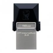 16Gb Kingston DataTraveler microDuo, совместим с Android, microUSB/USB 3.0 (DTDUO3/16GB)